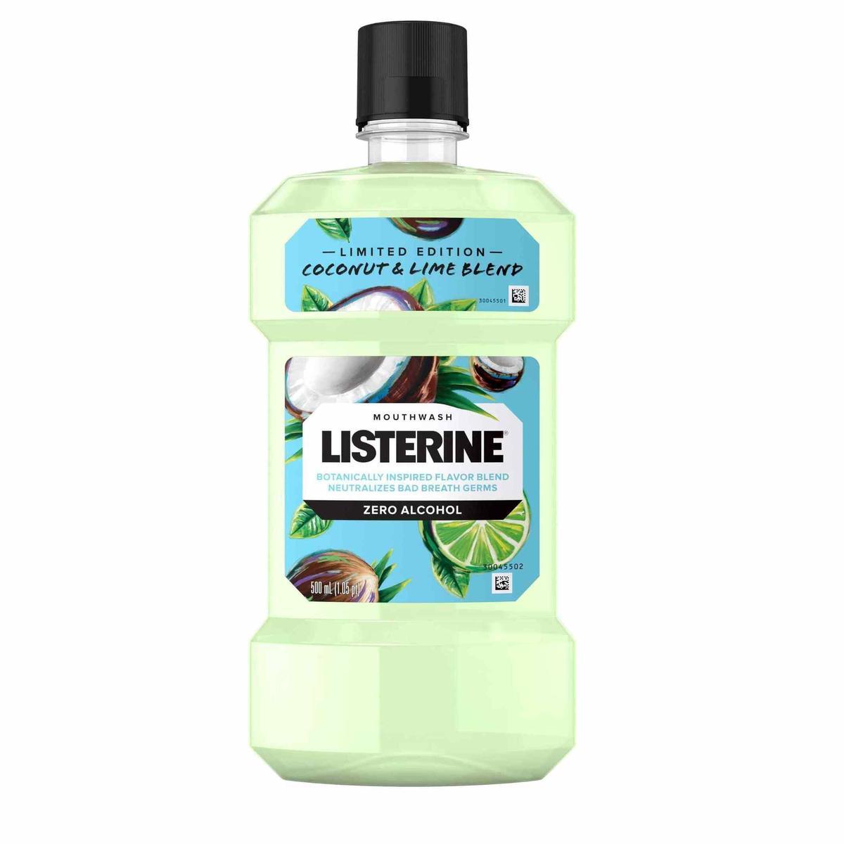 Listerine Zero Alcohol Mouthwash, Coconut & Lime Blend, 500mL Image