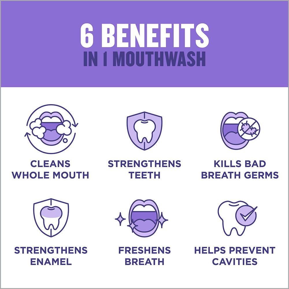 Listerine Total Care 6 benefits in 1  mouthwash purple