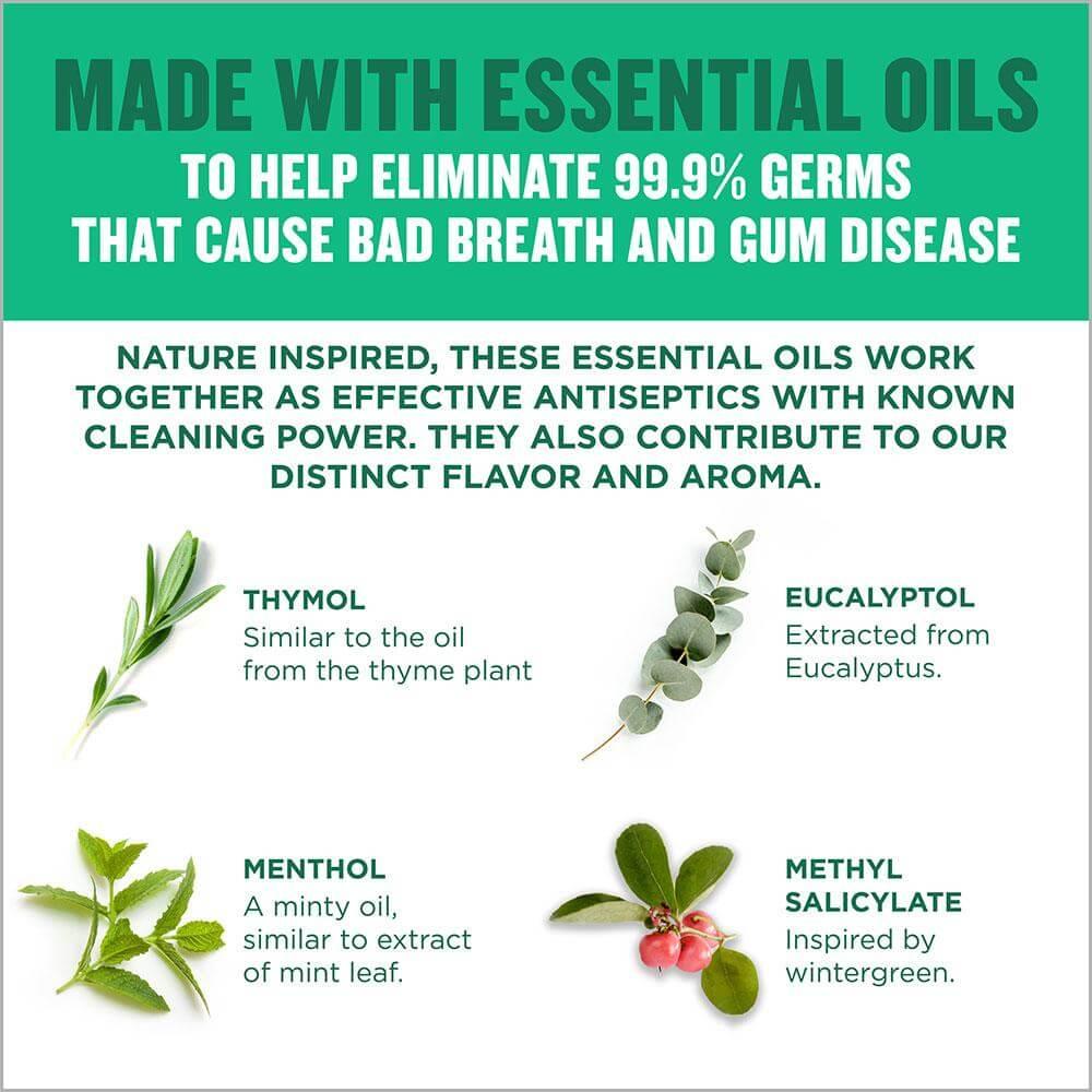 Listerine Freshburst essential oils