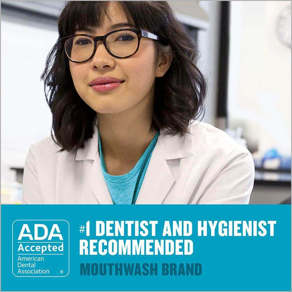 Listerine Ultraclean mint Dentist recommended