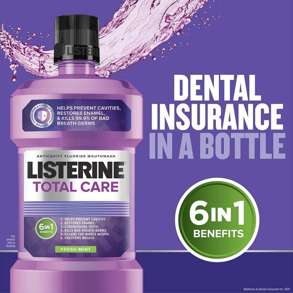 Listerine Total Care dental insurance in a bottle