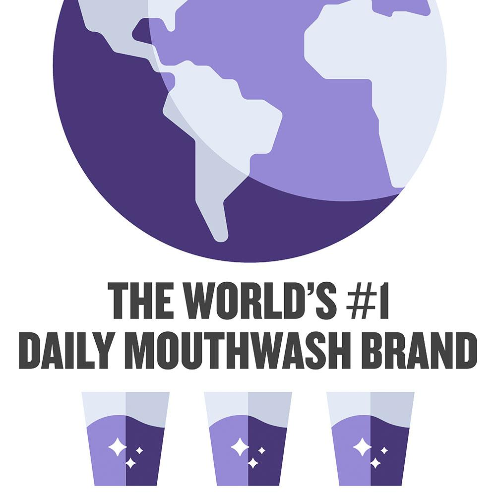 Listerine Total Care world's number one daily mouthwash brand