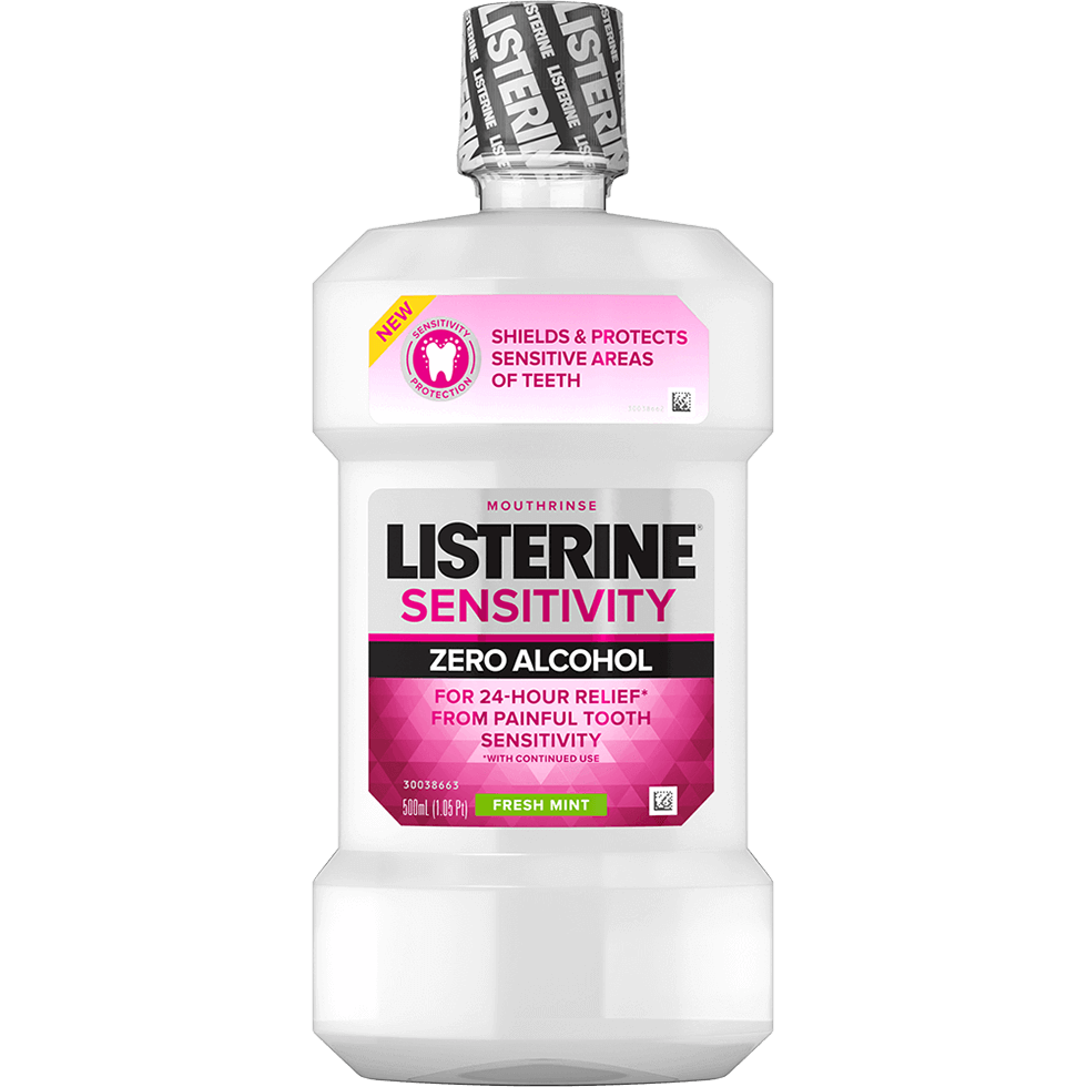 LISTERINE® Sensitivity Zero Alcohol Mouthwash