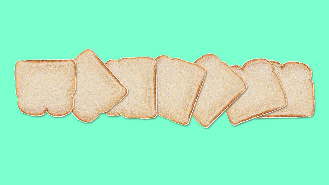 bread with green background