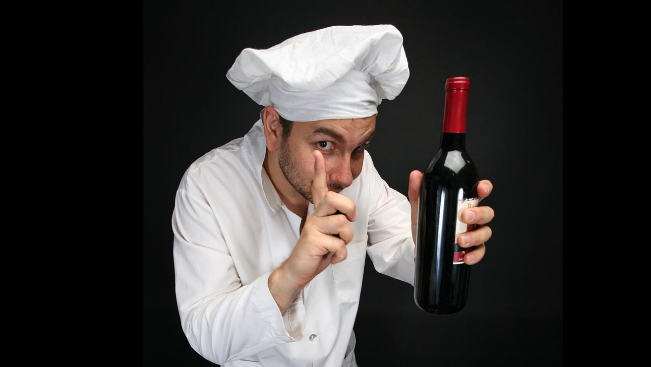 chefwith red wine