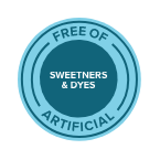 Free of artificial sweeteners & dyes