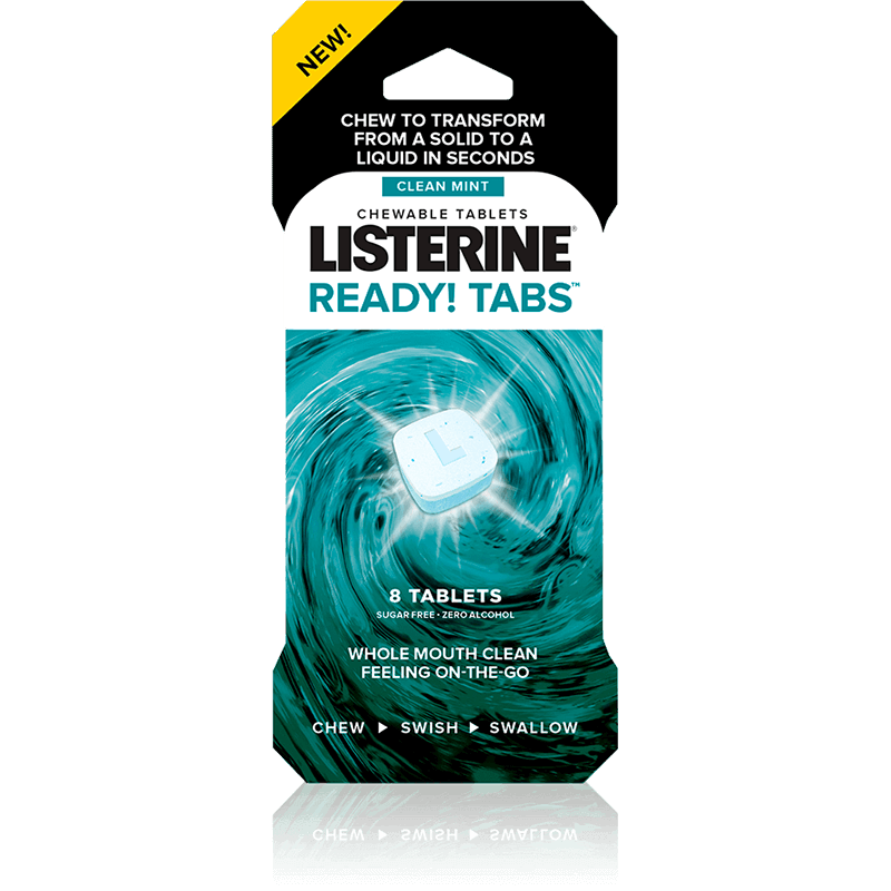 LISTERINE® READY! TABS™ Mint Chewable Tablets Image